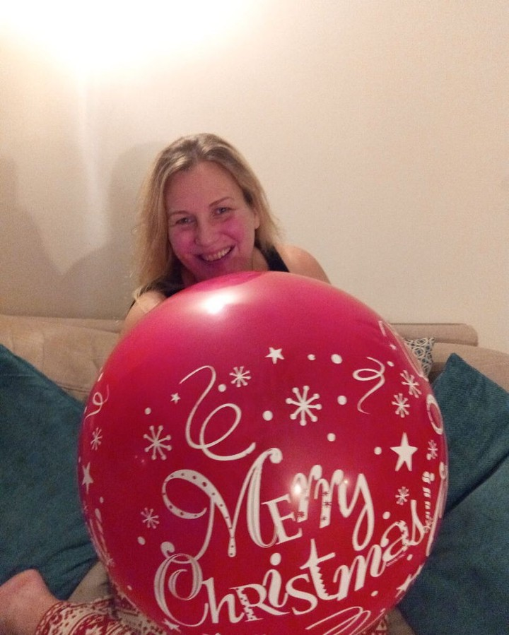 Michelle and Christmas Balloon