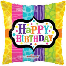 Colourful Animal Print Happy Birthday Square