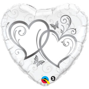 Entwined Silver Hearts Foil