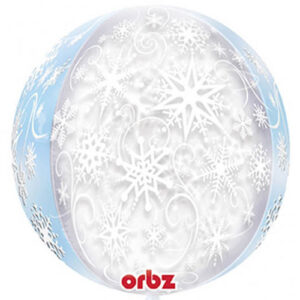 "Frozen Snowflakes Orbz 16"" (inflated)"