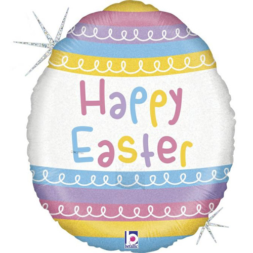 Pastel Striped Easter Egg Foil