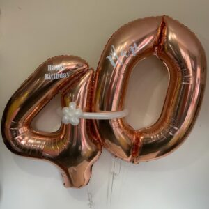 Rose Gold Balloon Numbers