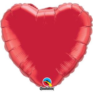Red Foil Heart 18""