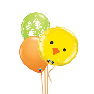 3 Balloon Bouquet - Easter Chick
