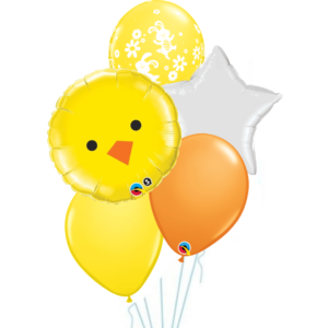 5 Balloon Bouquet - Easter Chick