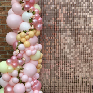 Sequin Wall with Balloon Garland